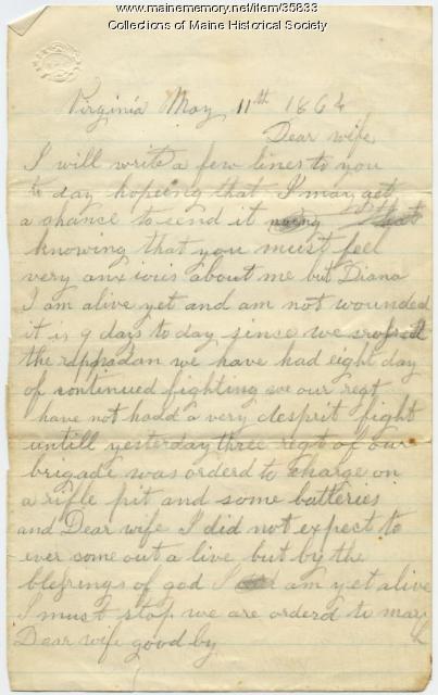 Marshall Phillips on Spotsylvania, Virginia, 1864
