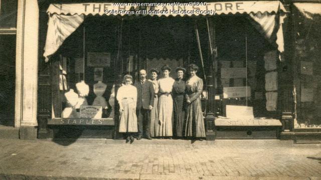 Everett M. Staples Bargain store, Biddeford, ca. 1920