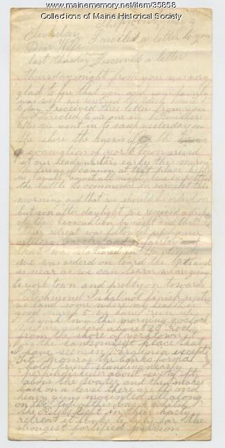 Marshall Phillips on evacuation of Yorktown, 1862