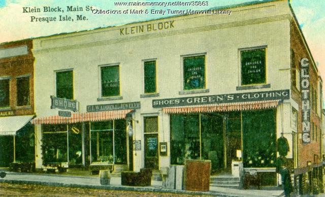 Klein Block, Presque Isle, ca. 1910