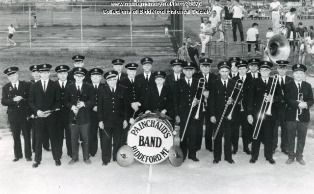 Painchaud Band at May field, Biddeford, 1959