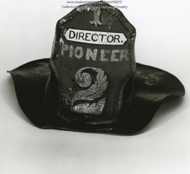 Fireman helmet #2, Biddeford, ca. 1848