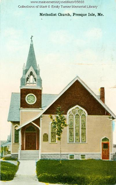 Methodist Church, Presque Isle, ca. 1910