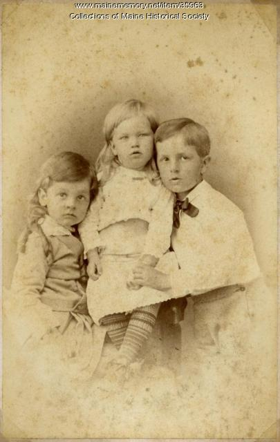 Pierce children, Portland, ca. 1879