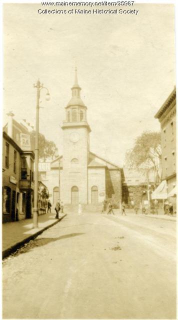 First Parish Church, Portland, ca. 1910