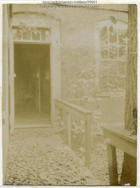 Longfellow house door, Portland, 1896