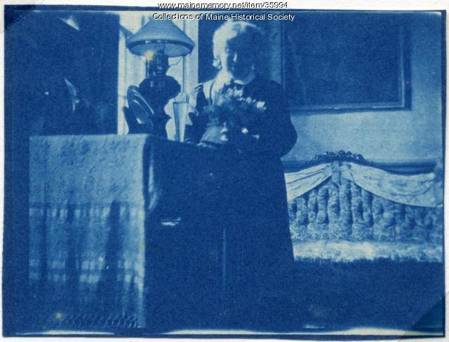 Anne Longfellow Pierce, Portland, ca. 1896