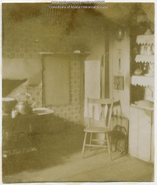 Longfellow House kitchen, Portland, 1896