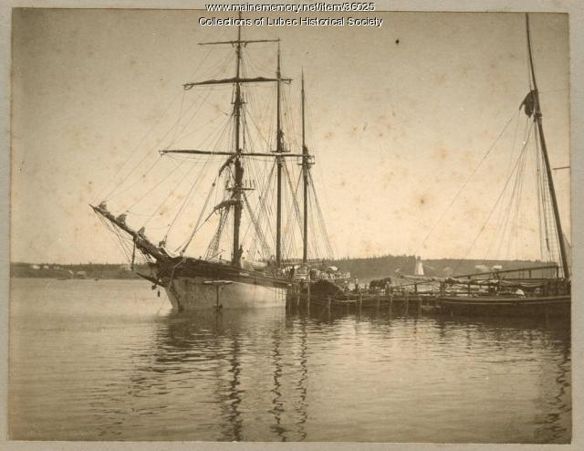 Sailing ship, Lubec, ca. 1885
