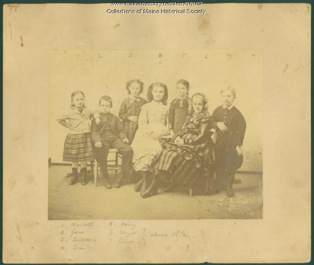 Pierce family, Gorham, 1871