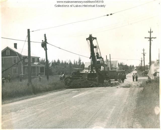 Water line installation, Lubec, ca. 1965
