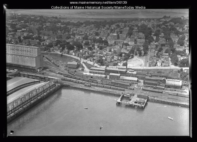 Aerial view of the Portland Company, Portland, ca. 1935