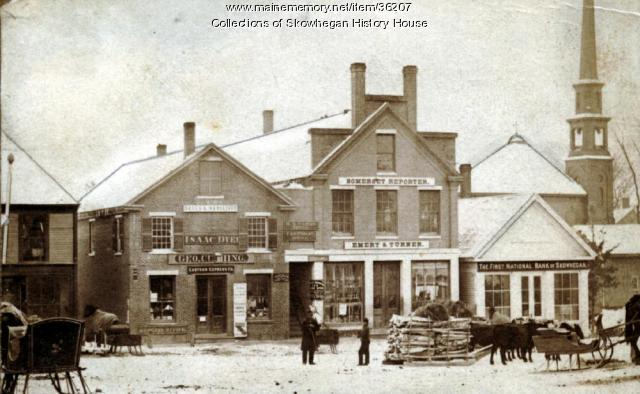 Southerly Side of Water Street, Skowhegan, ca. 1870