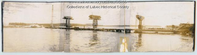 Roosevelt Bridge construction, Lubec, 1961