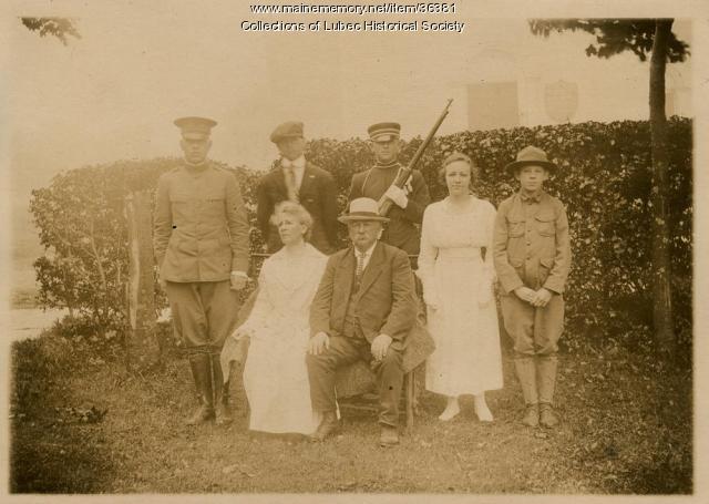 Jacob Clark Pike family, Lubec, 1917