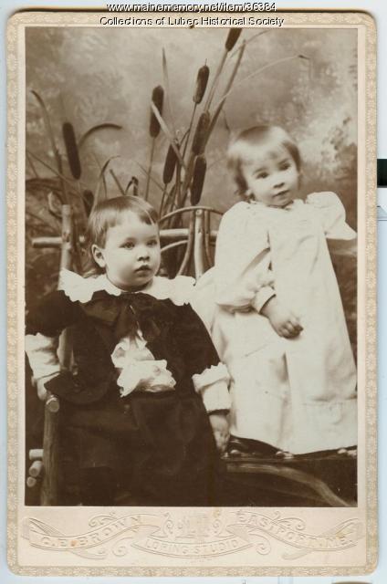 Sumner and Julius Pike, Lubec, 1892