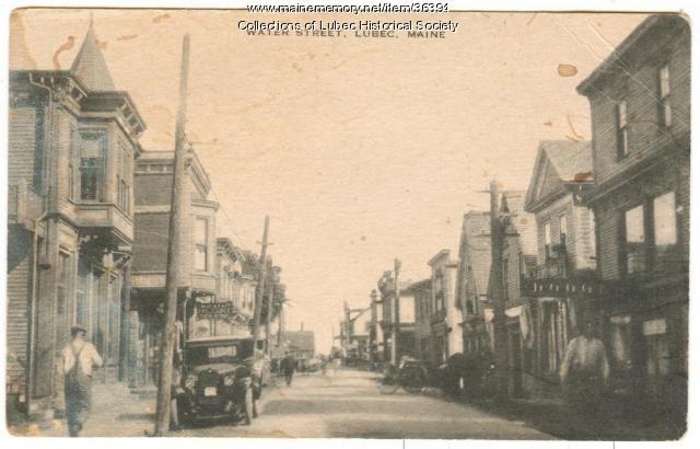 Water Street, Lubec, ca. 1920