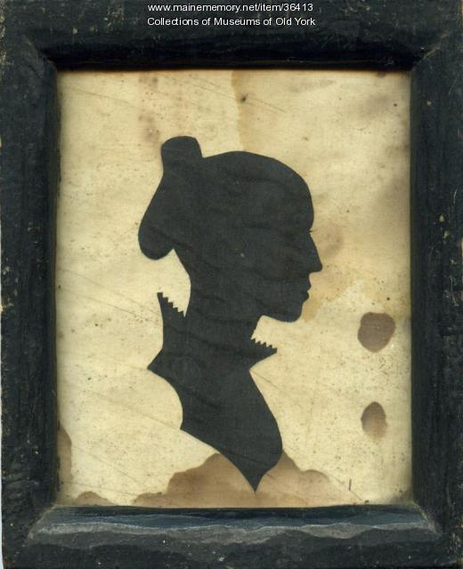 Silhouette of Rachel (Lowe) Winn, York, ca. 1814
