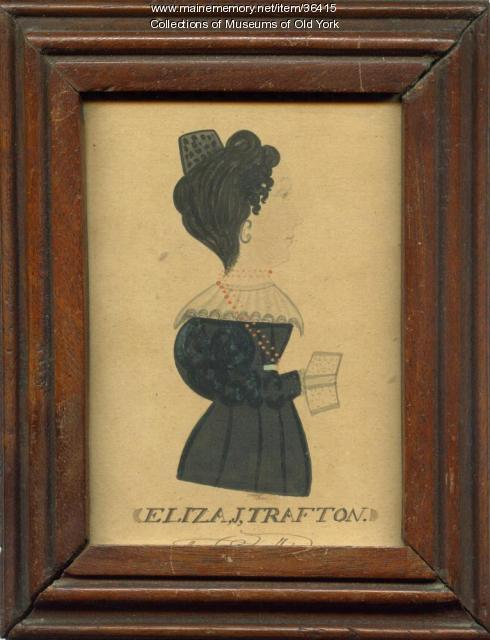 Watercolor of Eliza Jane (Trafton) Sewall, York, ca. 1830