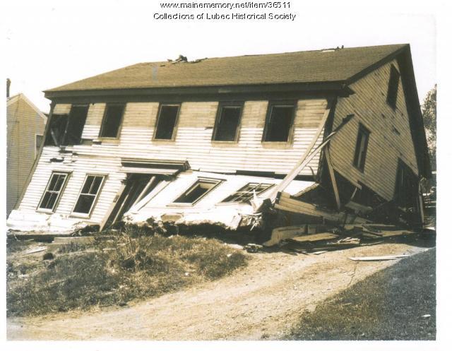 Demolition of Historic House, Lubec, 1977