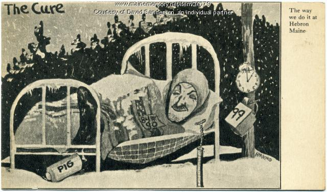 Tuberculosis cure cartoon, ca. 1912