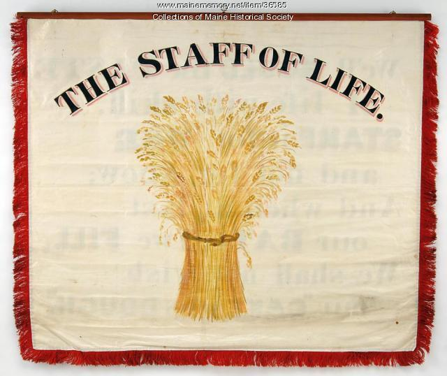 Bakers and Confectioners trade banner, Portland, 1841