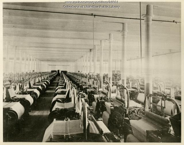 Weaving Room, Pepperell Mills, ca. 1894