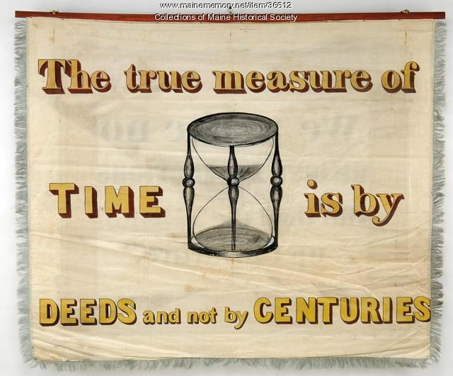 Instrument Makers' banner, Portland, 1841