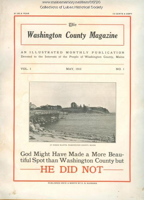 Cover of the Washington County Magazine, Machias, 1912