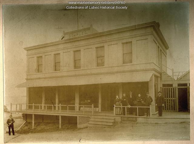 Staples Building, Lubec, ca. 1898