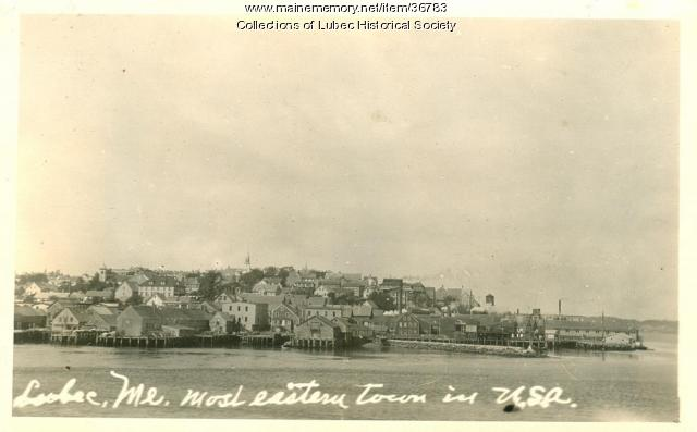 Waterfront, Lubec, ca. 1925