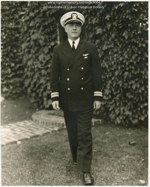 Lt. Commander Carleton Pike, Lubec, ca. 1944