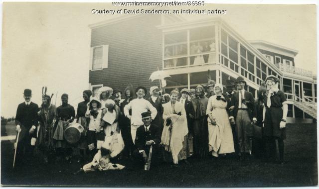Sanatorium patients in costume, Hebron, ca. 1912