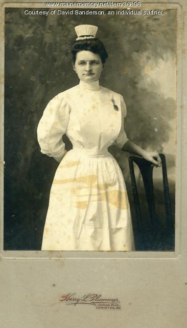 Helen M. Sanderson, Lewiston, ca. 1906