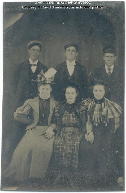 Sanderson siblings, North Waterford, 1897