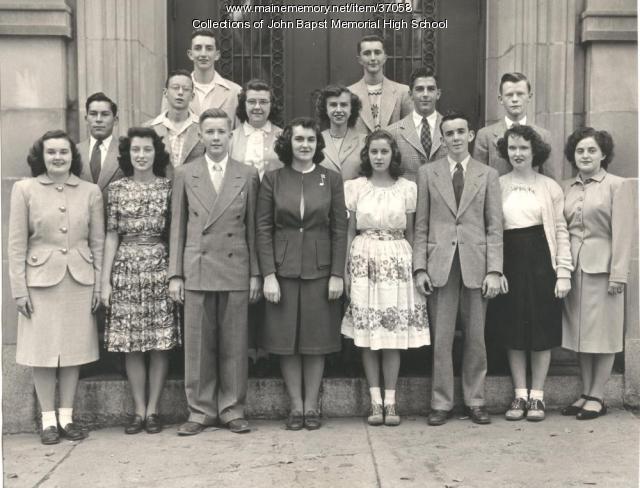 John Bapst National Honor Society, Bangor, ca. 1948