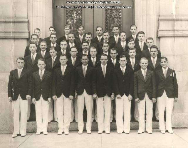John Bapst Class of 1934 male students, Bangor, ca. 1934