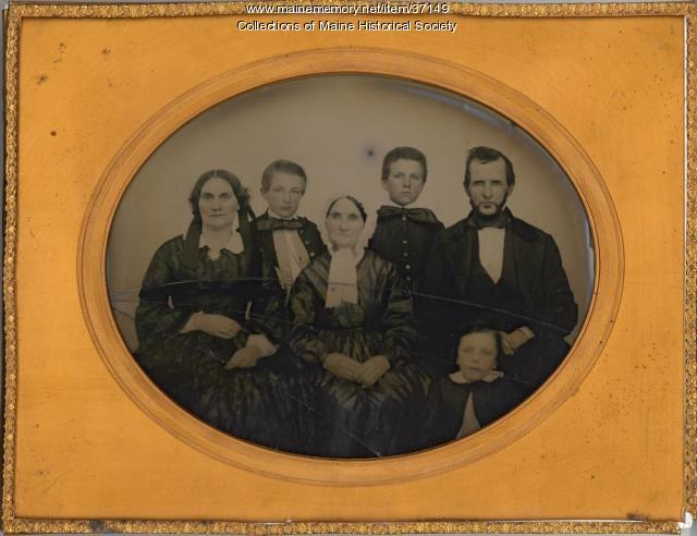 O.R. Patch and family of Bangor, ca. 1865