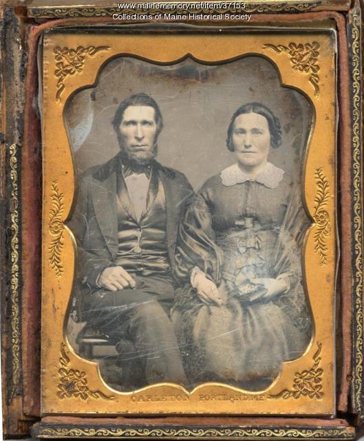Samuel L. Carleton daguerreotype of couple, Portland