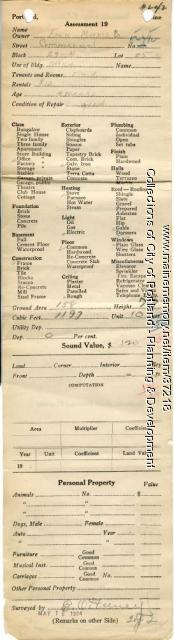 Assessor's Record, 9 Commercial Street, Portland, 1924
