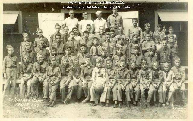 Boy Scout troup 309, Biddeford, 1946