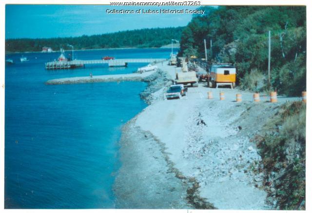 American Can plant demolition, Lubec, 1995