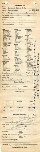 Assessor's Record, 106-108 Commercial Street, Portland, 1924