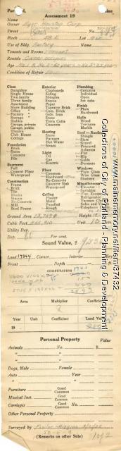 Assessor's Record, 551-559 Commercial Street, Portland, 1924