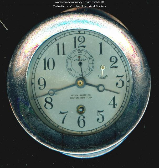 Ship's clock, Lubec, ca 1930