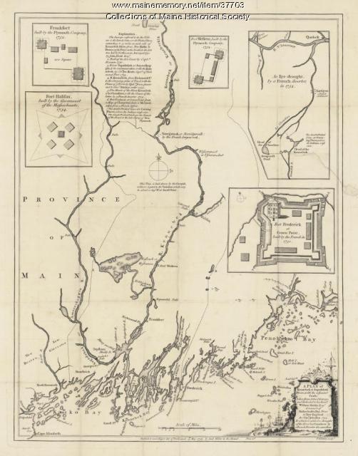 Kennebec and Sagadahok rivers plan, 1755
