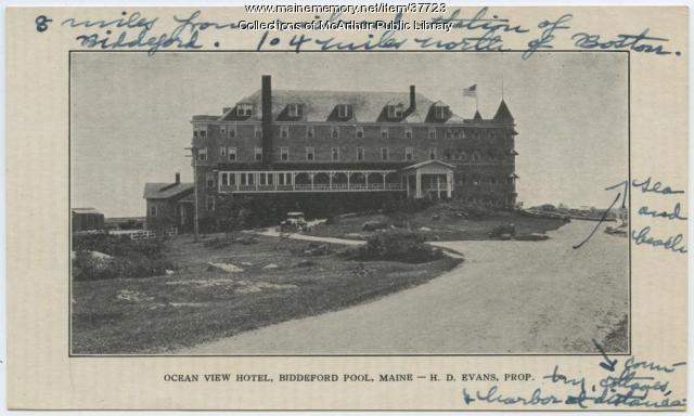 Ocean View Hotel Biddeford Pool Ca 1900 Maine Memory Network