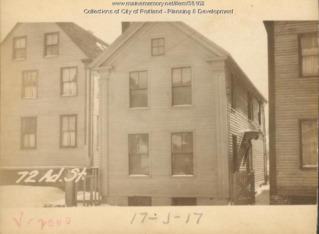 72 Adams Street, Portland, 1924