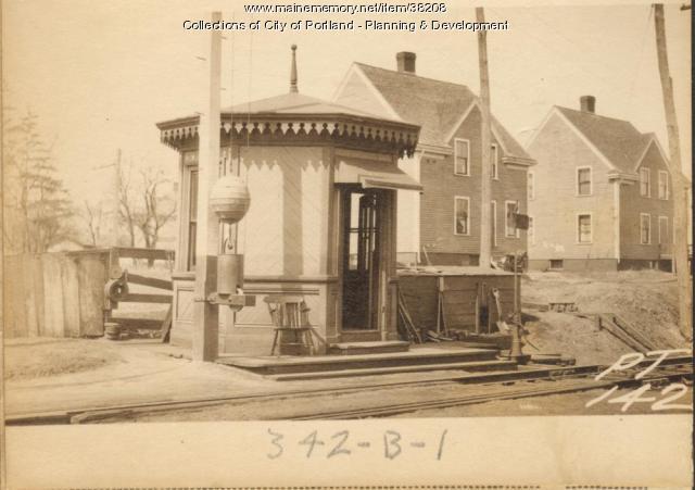 Railroad, Allen Avenue, Portland, 1924