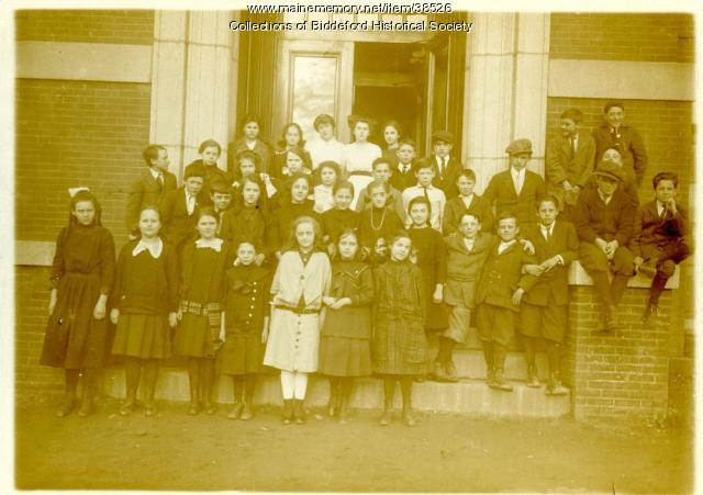 Emery School students, Biddeford, 1930